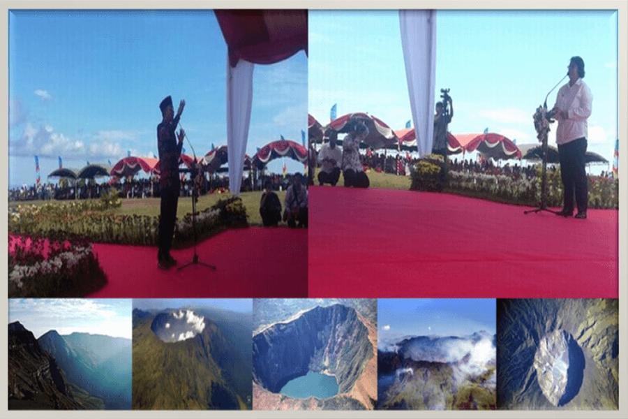festival pesona tambora 2016-pidato menteri LHK dan gubernur ntb-bingkai